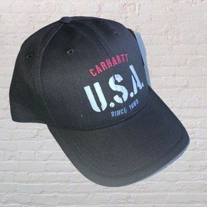 Carhartt USA Since 1889 Mens Black Baseball Cap